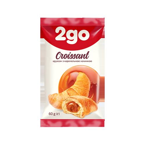 Круасан 2GO з карамельною начинкою 60г