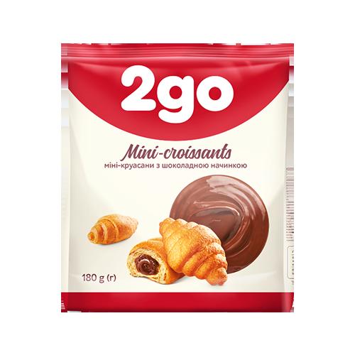 Круасан 2GO з шоколадною начинкою 180г
