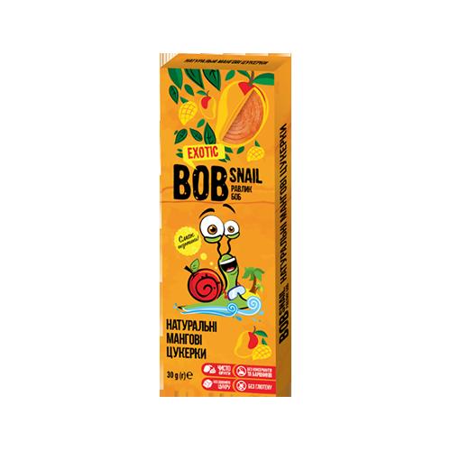 Цукерки натуральні BOB SNAIL манго 30г