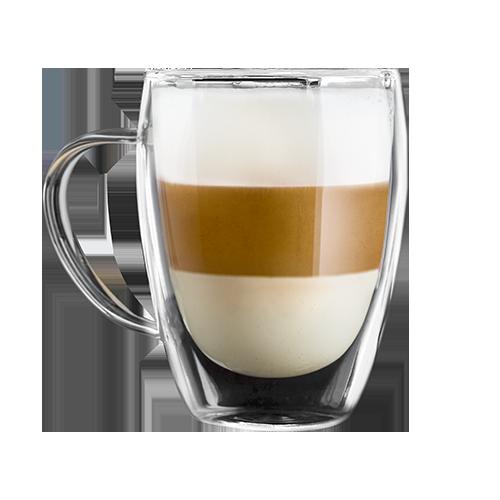 Скляна чашка з подвійним склом