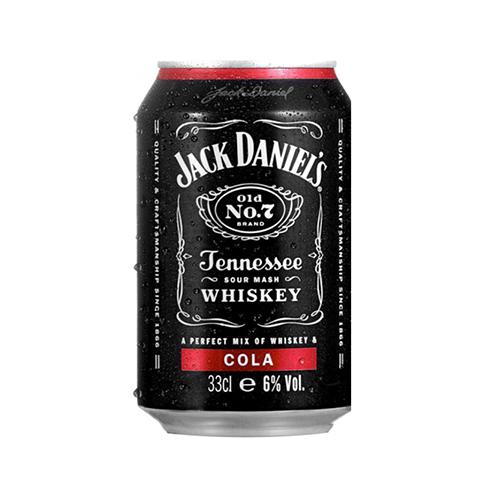 С/а напій Jack Daniels Whisky Cola 0,33л ж/б