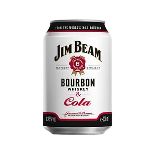 С/а напій Jim Beam Bourbon Whisky Cola 0,33л ж/б