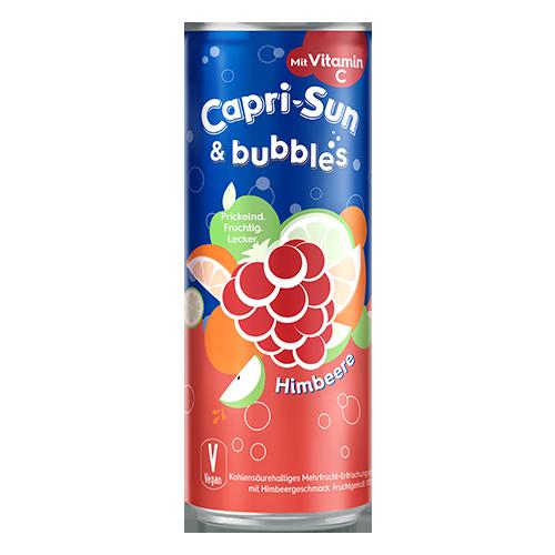 Напій газований Capri-Sun Bubbles зі смаком малини 330мл