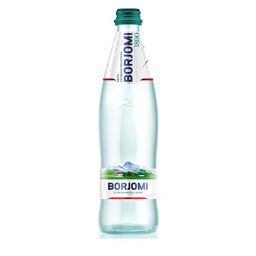 Мiнеральна вода Боржомi сильногазована 0,5л скло