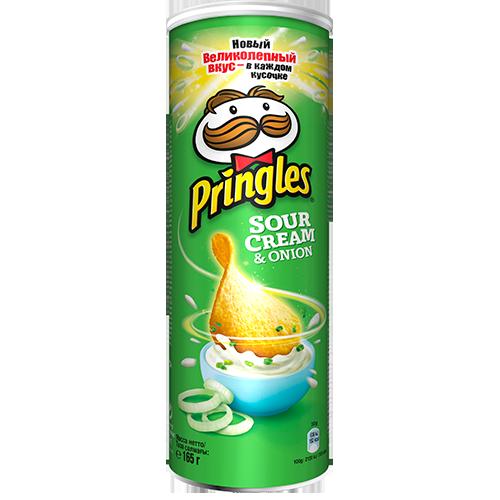 Чiпси Pringles Сметана-цибуля 165г