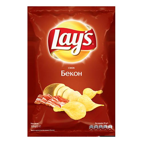 Чіпси Lays Бекон 133г
