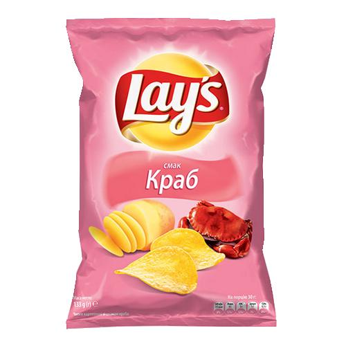 Чіпси Lays Краб 133г