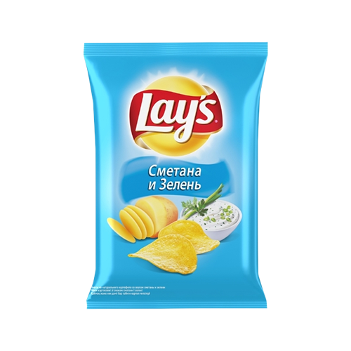 Чіпси Lays Сметана та зелень 133г