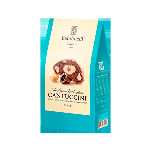Печиво Кантучіні з шоколадом та фундуком 100г