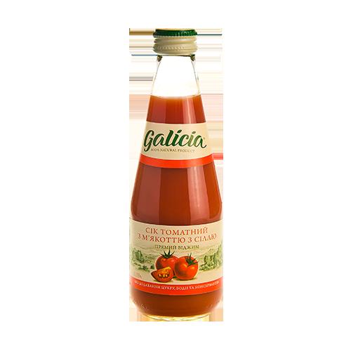 Сік Galicia Томатний з м'якот/сіль 0,3л