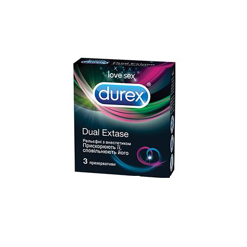 Презерватив Durex Dual Extase №3